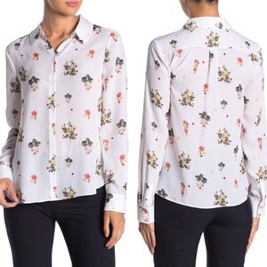 Ted Baker Simma Floral Button Up Blouse